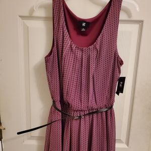 Maroon IZ Byer dress from Kohls.